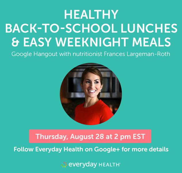 Join us for a Google+ Hangout August 28 with nutritionist Frances Largeman-Roth