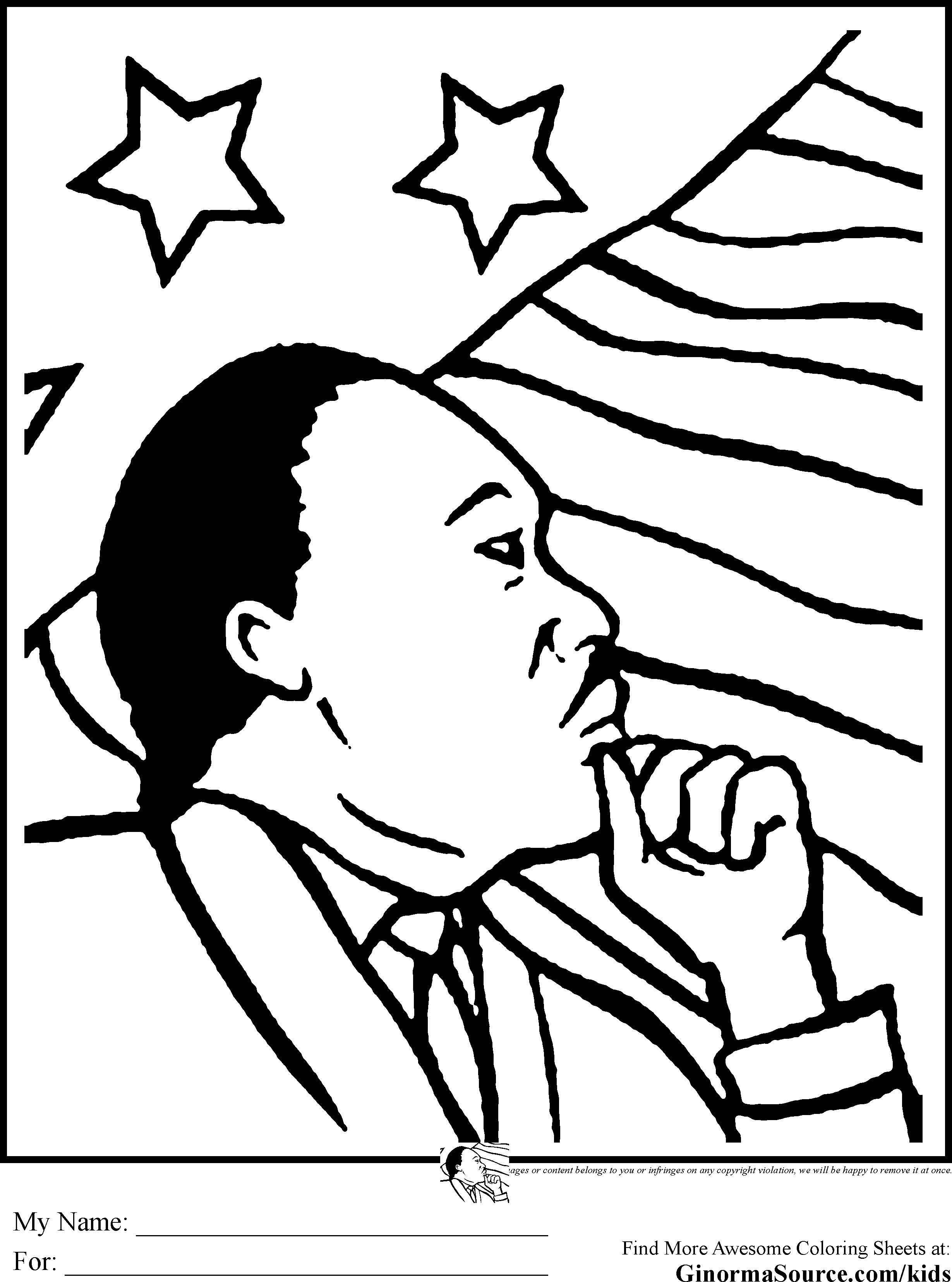 Martin Luther King Activities Worksheets And Mlk Coloring Pages