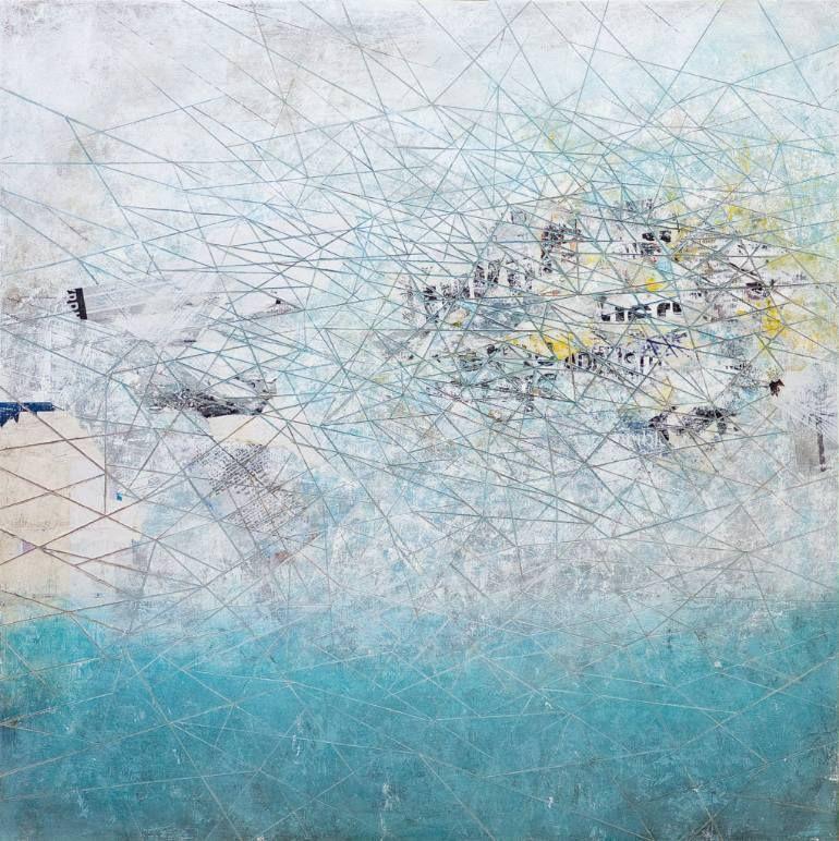 "Saatchi Art Artist David Fredrik Moussallem; Collage, ""Compassion Fatigue (on Exhibition)"" #art"