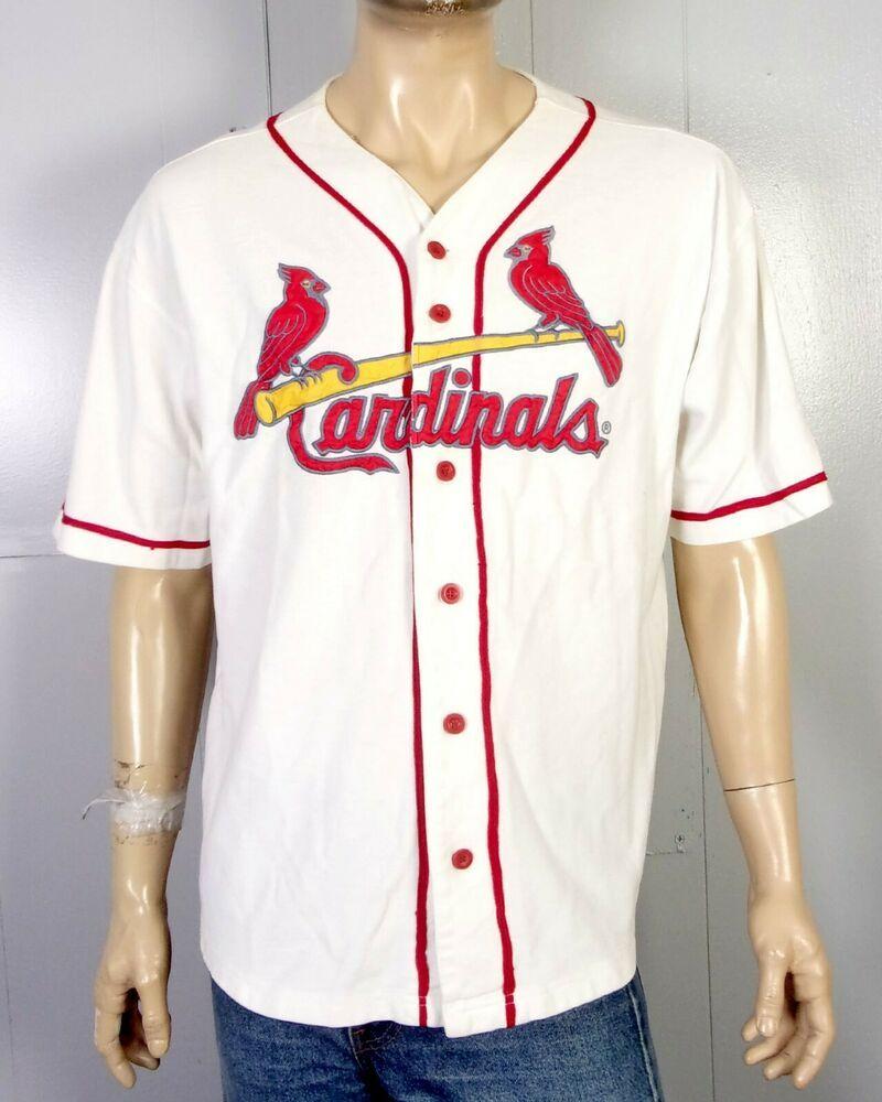huge discount 6bd99 cb2f5 vtg 90s rare Mirage 100% Cotton St. Louis Cardinals Mark ...