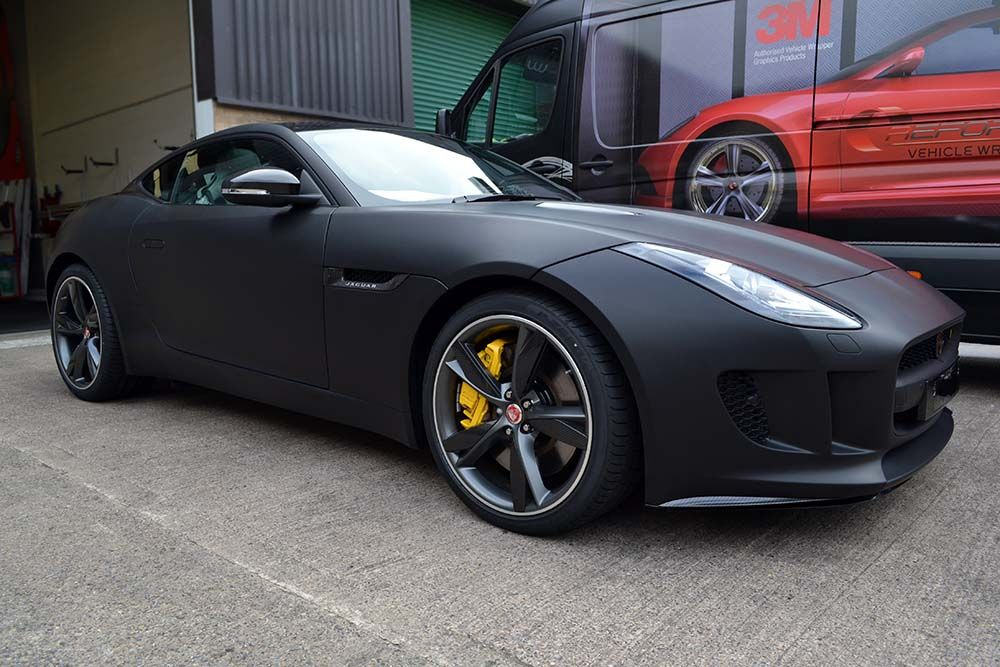 Brand New Jaguar F Type Wrapped By Us In Matte Black   It Looks Amazing