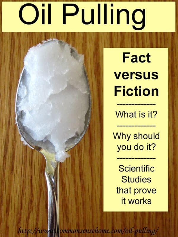 Oil Pulling - Fact versus Fiction - Common Sense ...