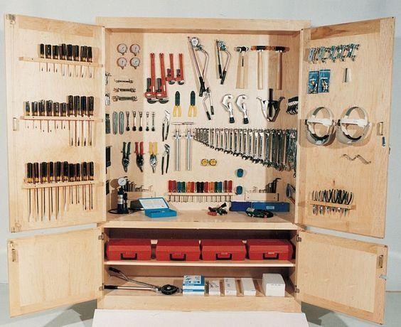 Ideas para organizar herramientas y materiales de for Ideas para organizar armarios