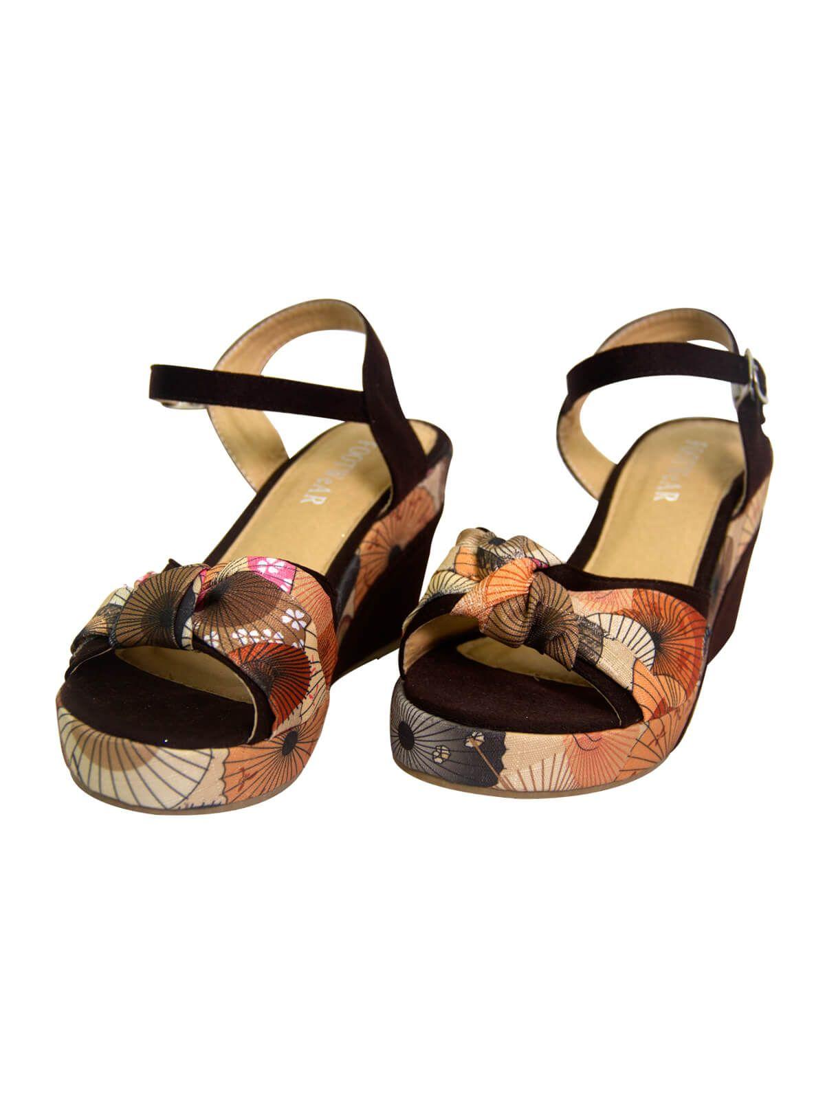dced778df67 Black Print Flat High Hill Ladies Sandal