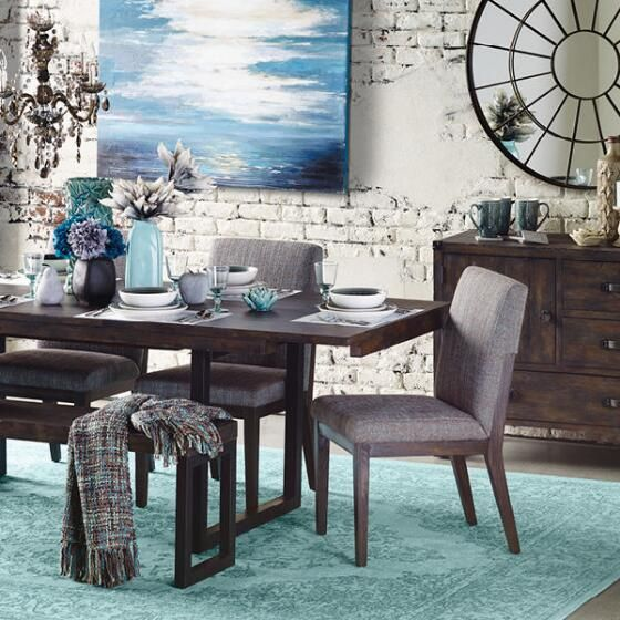 Rustique Ext Dining Table -Bark Brown - 3 Dining Pinterest