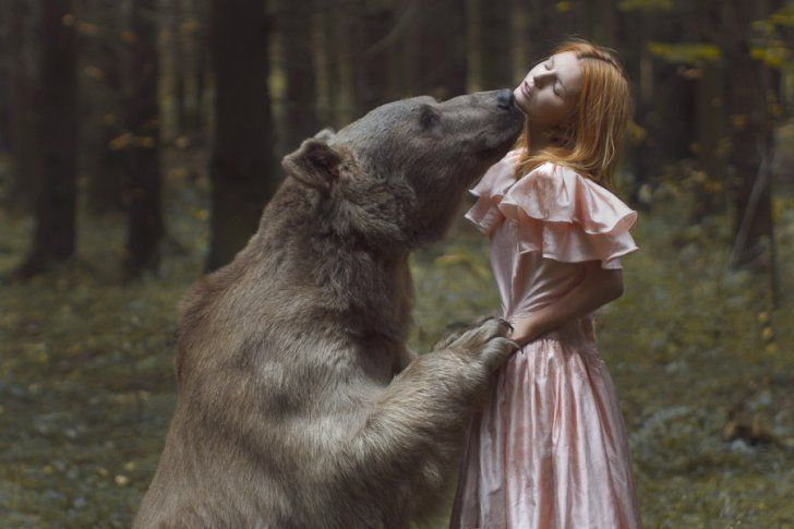 Russias Wild Animals Meet Fairytale Photography Photo Gallery - Russian photographer takes enchanting fairytale photos featuring wild animals