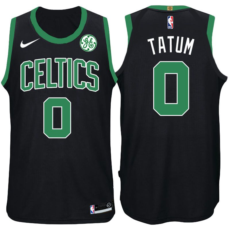 NBA 2017-18 Celtics  0 Jayson Tatum Statement Black Swingman Jersey ... c9901a15c