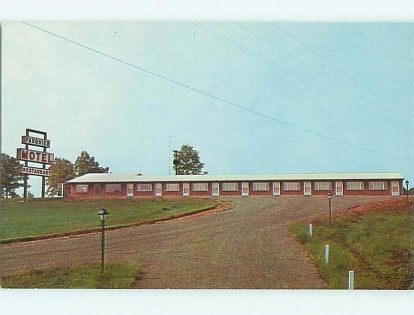 Unused Pre-1980 Fauquier Motel Restaurant Warrenton Virginia VA