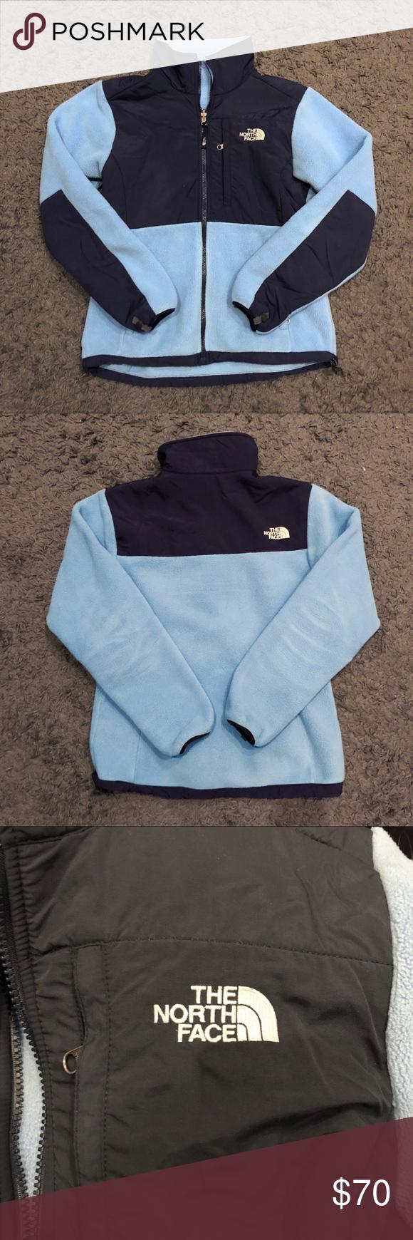 The North Face Denali Jacket Light Blue Navy Womens Fashion Jackets Womens Jackets Casual Blazer Jackets For Women [ 1740 x 580 Pixel ]