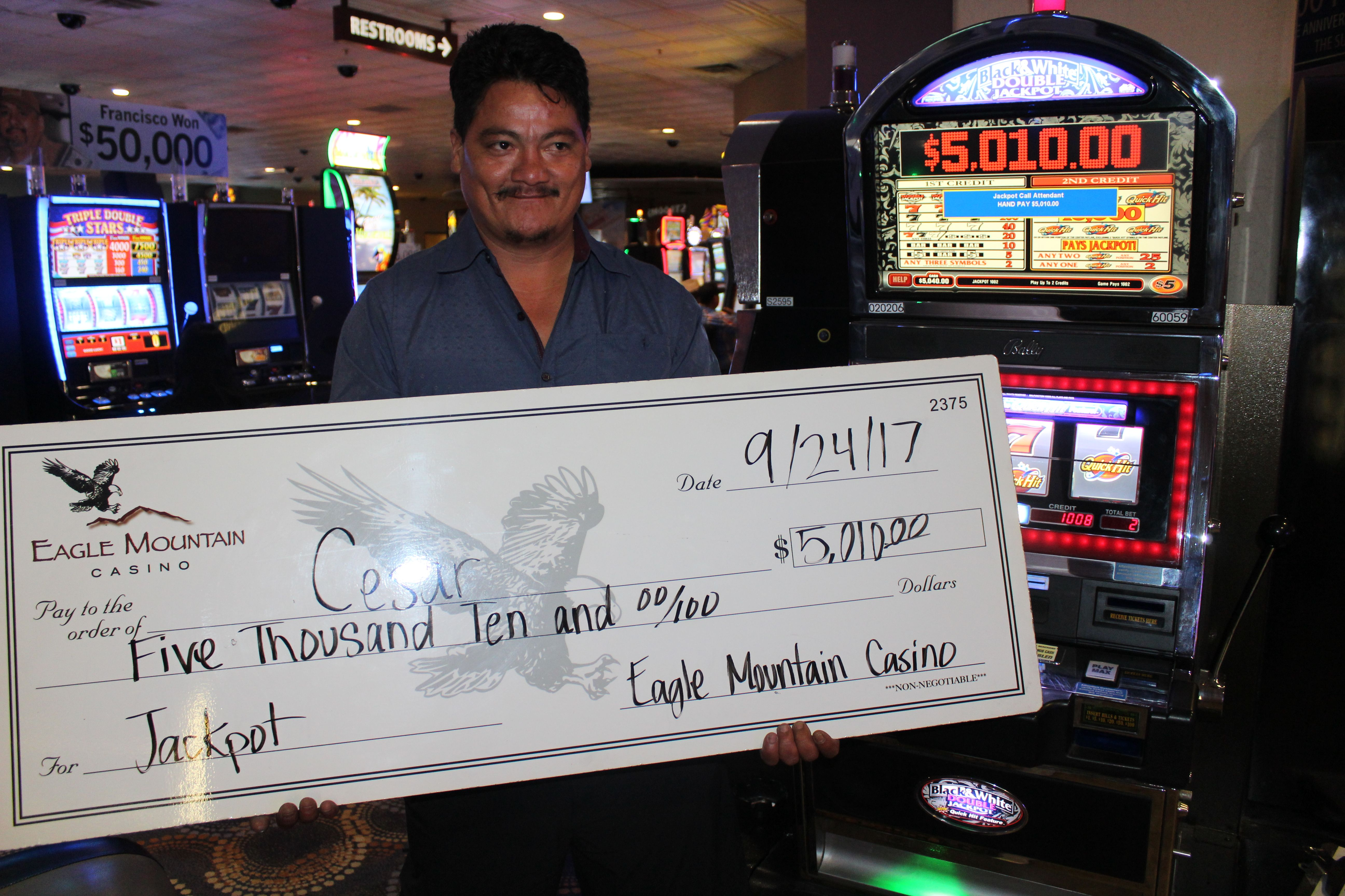 Eagle mountain casino slot machines eric cartman sings poker face