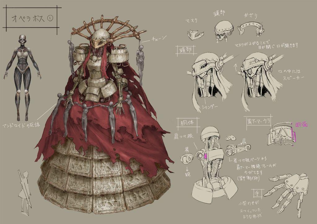 Character Design Nier Automata : Nier automata art boss online character design