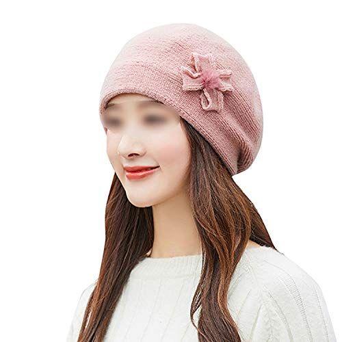Frauen Winter warme Mütze Baskenmütze baggy häkeln Mütze Hut Skimütze Bogen Kaninchen …   – Products