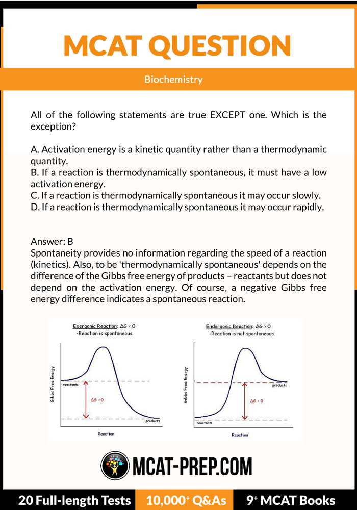 MCAT question on thermodynamics  To visit our free MCAT