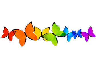 rainbow butterflies border for your design borders clipart rh pinterest co uk butterfly border clip art free butterfly page border clipart