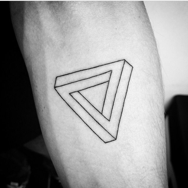 6d00c0523 Penrose triangle Impossible Triangle, Penrose Triangle, Body Drawing,  Tatting, Body Art,