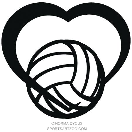 Volleyball heart. Tattoos