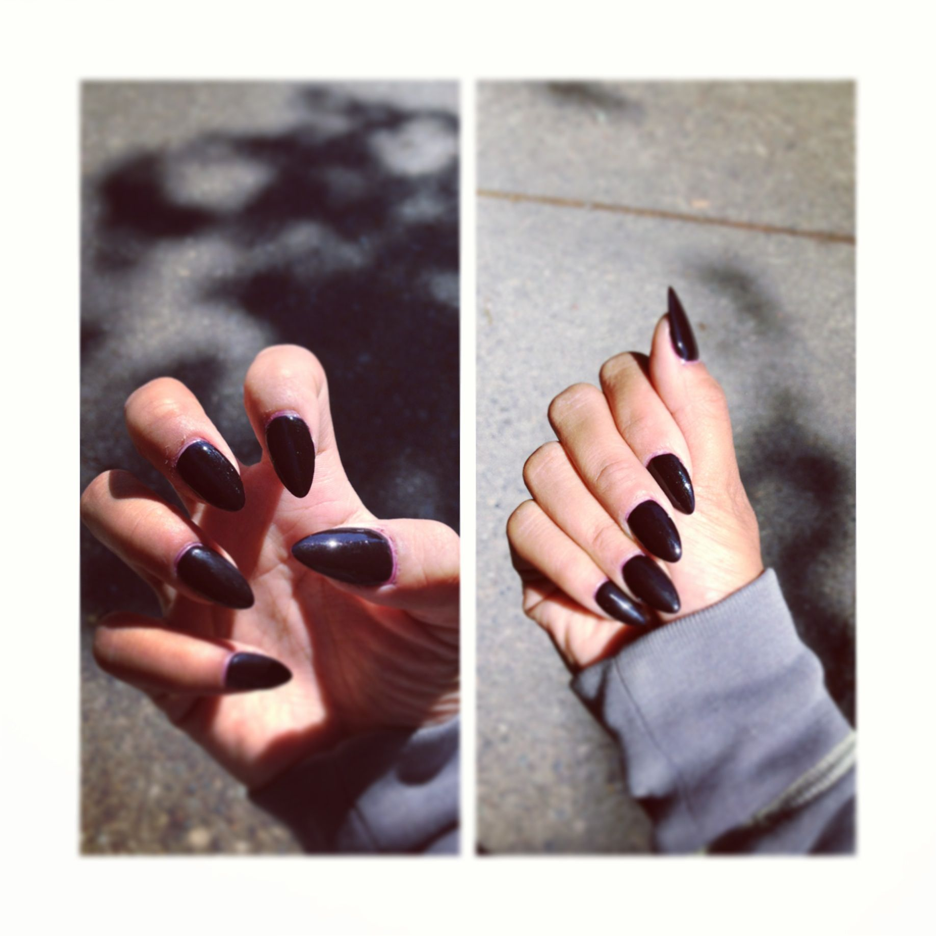 My nails of the day #opi #stiletto nails #lincoln park after dark ...