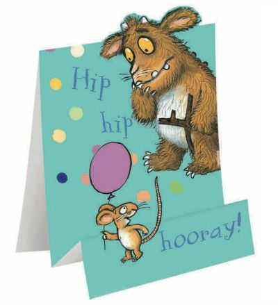 Hip Hip Hooray It S Your Birthday Today The Gruffalo Birthday Card From Woodmansterne Kids Birthday Cards Kids Cards Birthday Cards