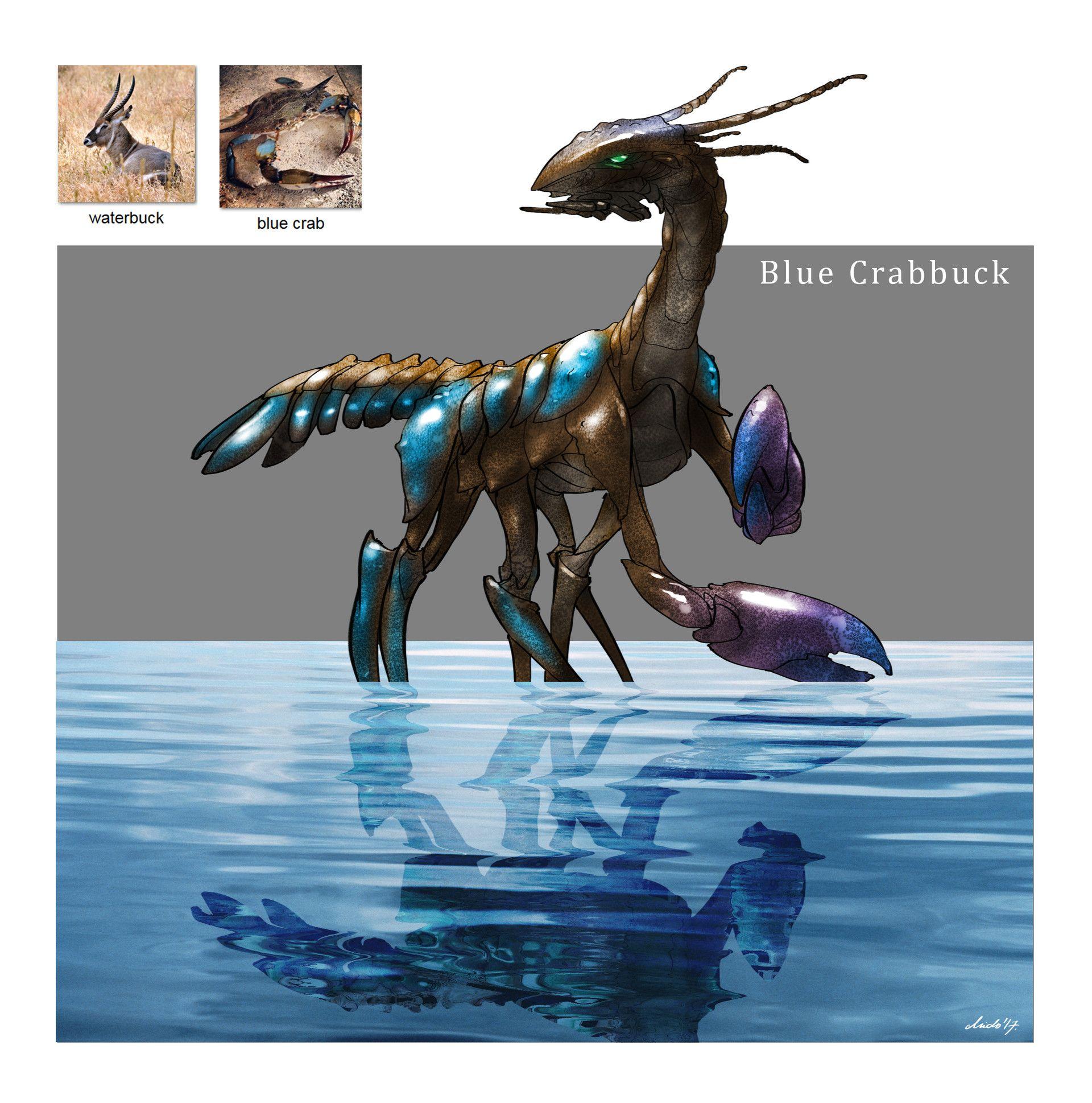 Artstation random creature mashup project 006 blue
