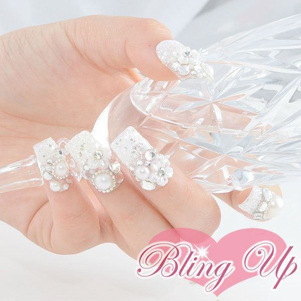 Japanese Wedding 3d Nail Art Set With Flowers Pearls And