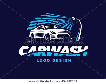 logo car wash on dark background. | logo | pinterest | dark