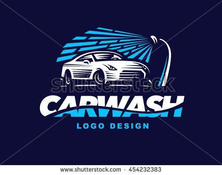 Logo Car Wash On Dark Background Wash Logo Car Wash Car Logo