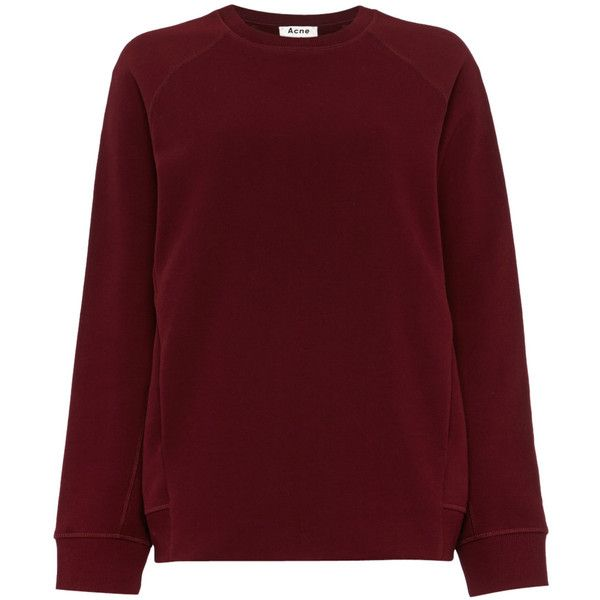 Acne Studios Nikoleta oversized boyfriend sweater in bordeauxrood ...