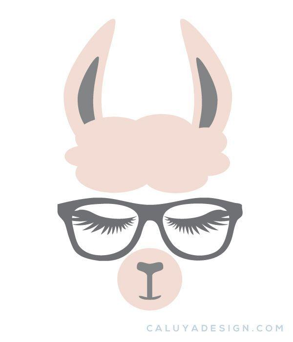 Kostenloses Llama Faces SVG, PNG, EPS & DXF #cricutcrafts