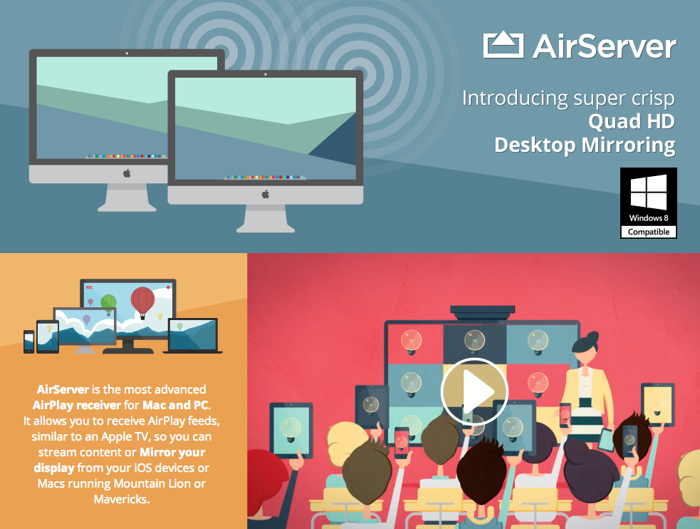 Airserver, airplay receiver Apps Apple tv, Surface hub