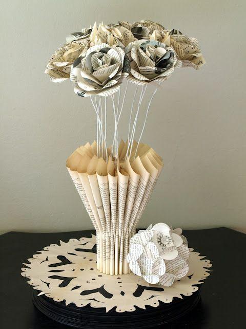 vase et fleurs en papier fleurs en papiers pinterest fleurs en papier vase et fleur. Black Bedroom Furniture Sets. Home Design Ideas