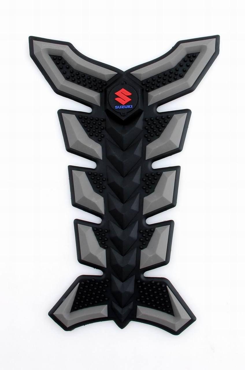 Motorcycle gloves gsxr - 3d Rubber Tank Pad Protector Gas Motorcycle Suzuki Gsxr 600 750 1000 1300 Gunmetal