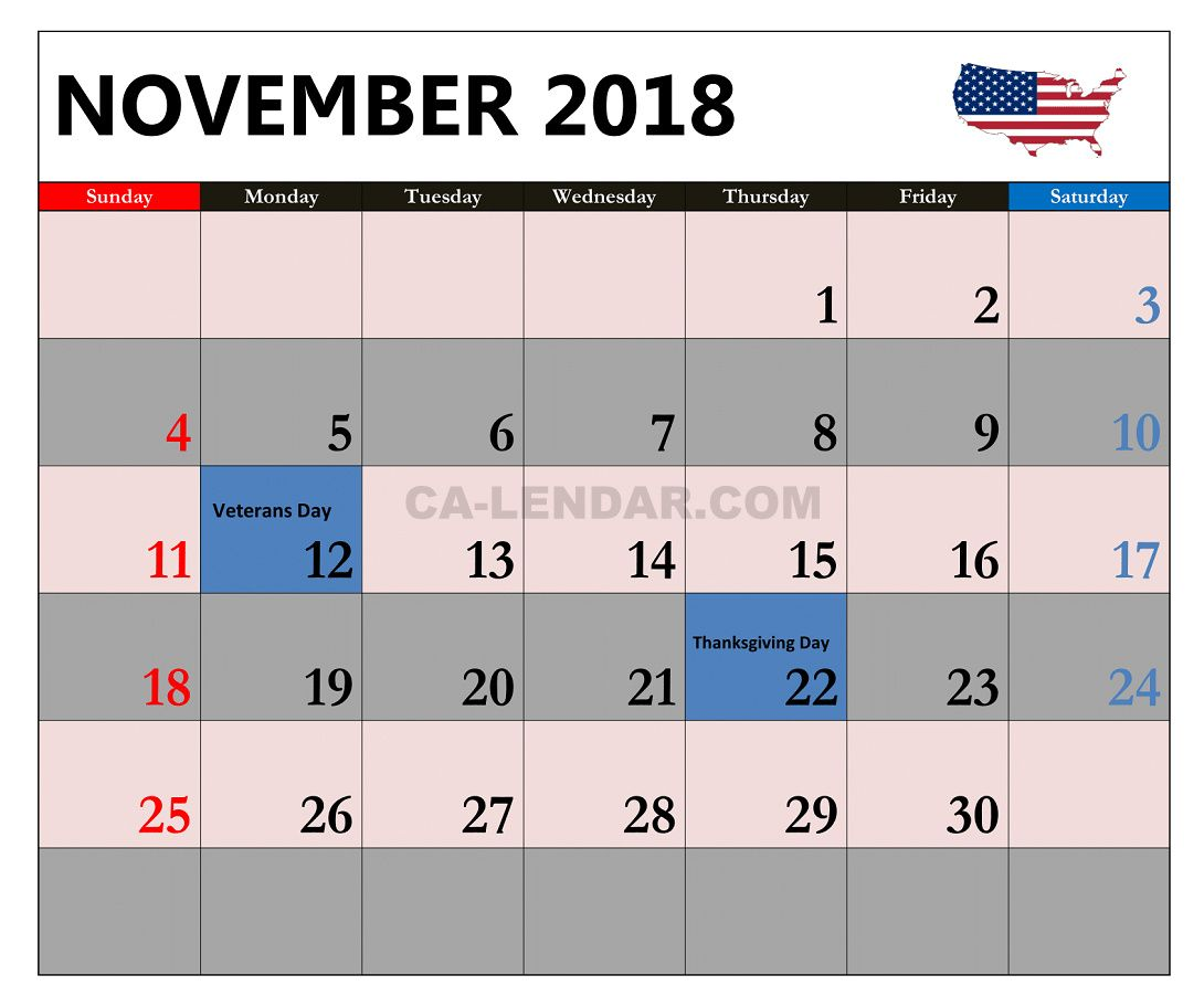 november 2018 calendar us holidays calendar holidays november