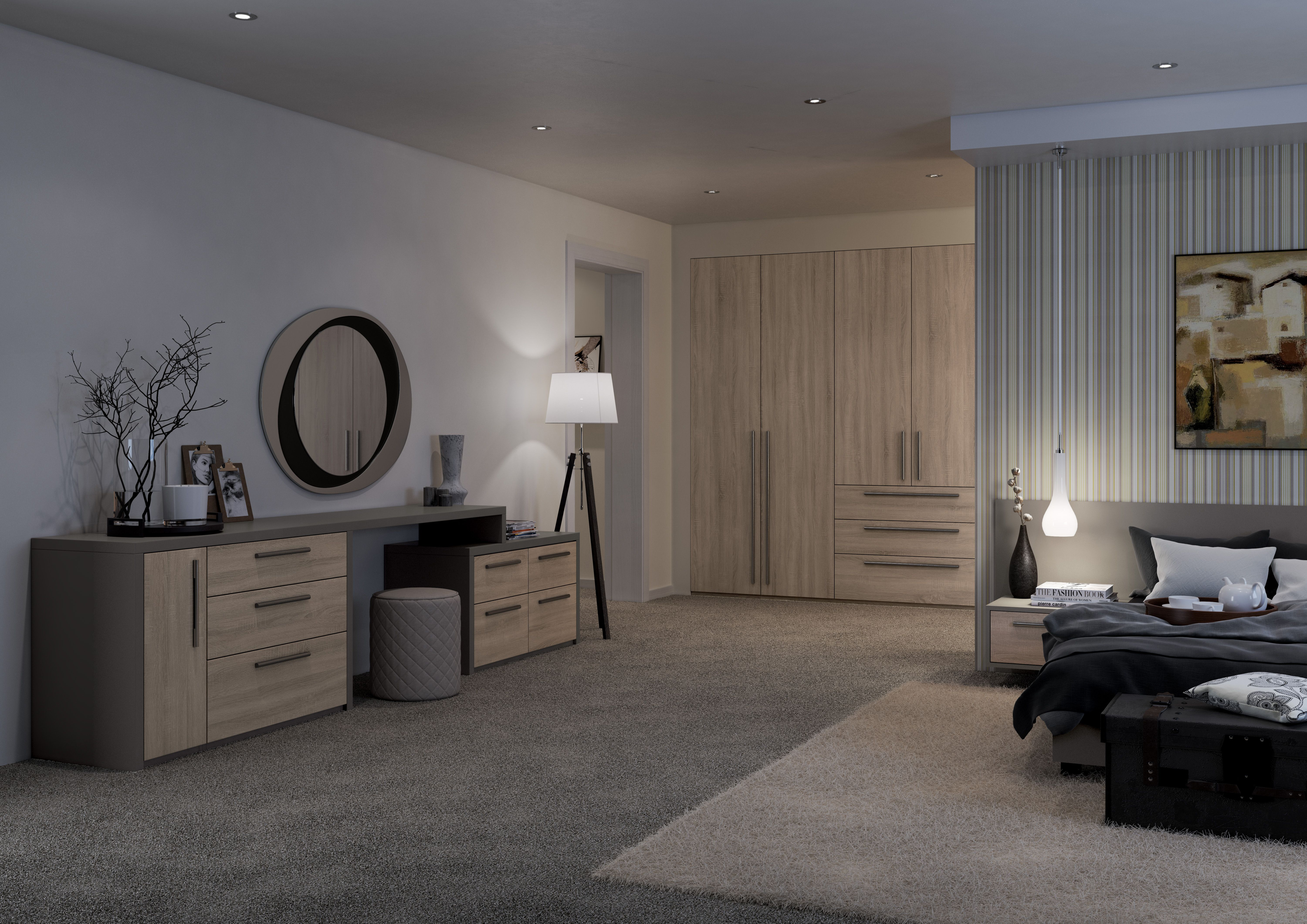 Best Elise In Bardolino Truffle Oak Fitted Bedrooms Stylish 400 x 300