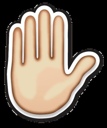 Raised Hand Hand Emoji Emoji Stickers Raised Hands Emoji