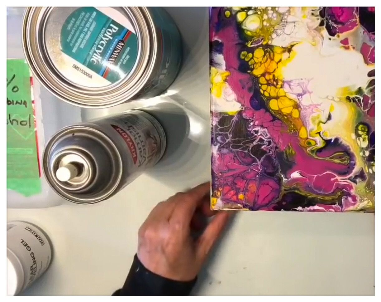 """Acrylic Pouring """"How to seal your paintings and more"""