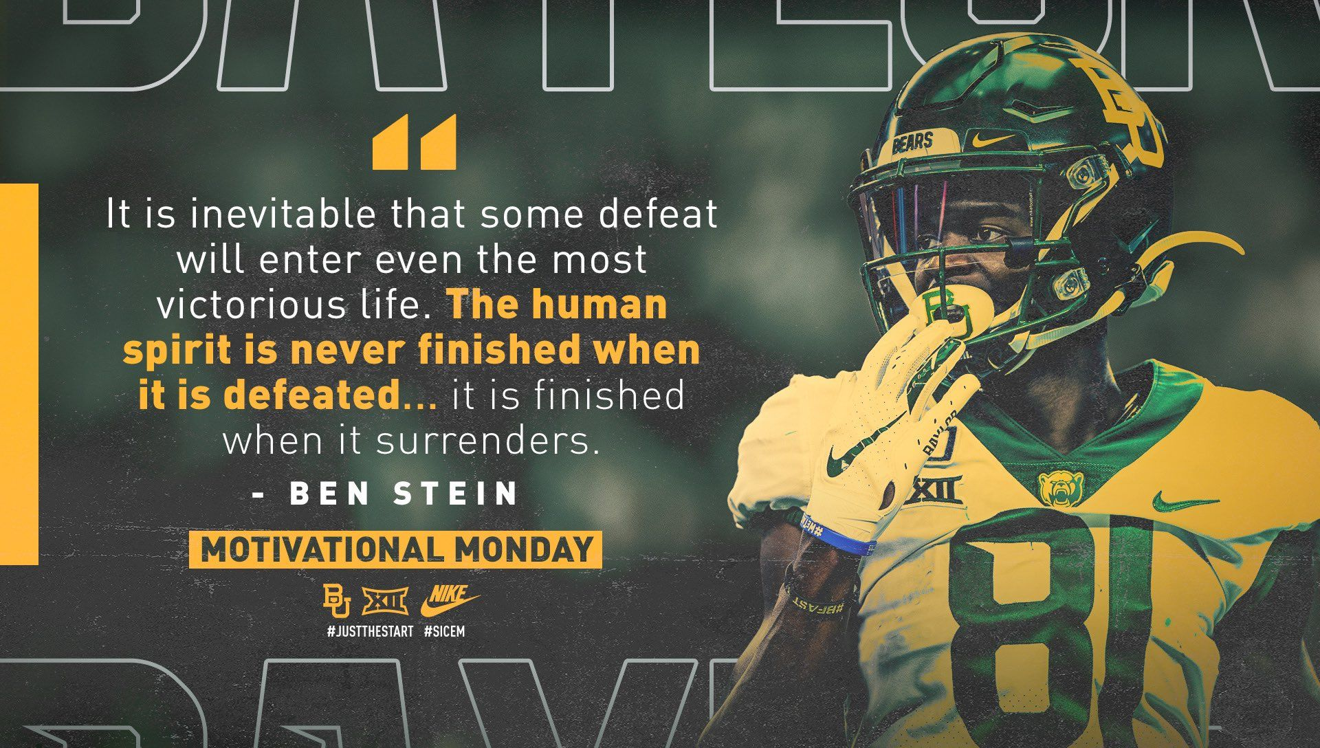 Baylor In 2020 Sports Graphic Design Graphic Quotes Sports Design Inspiration