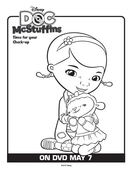 docmcstuffinsdisneyfreecoloringpages10free - Doc Mcstuffins Coloring Pages