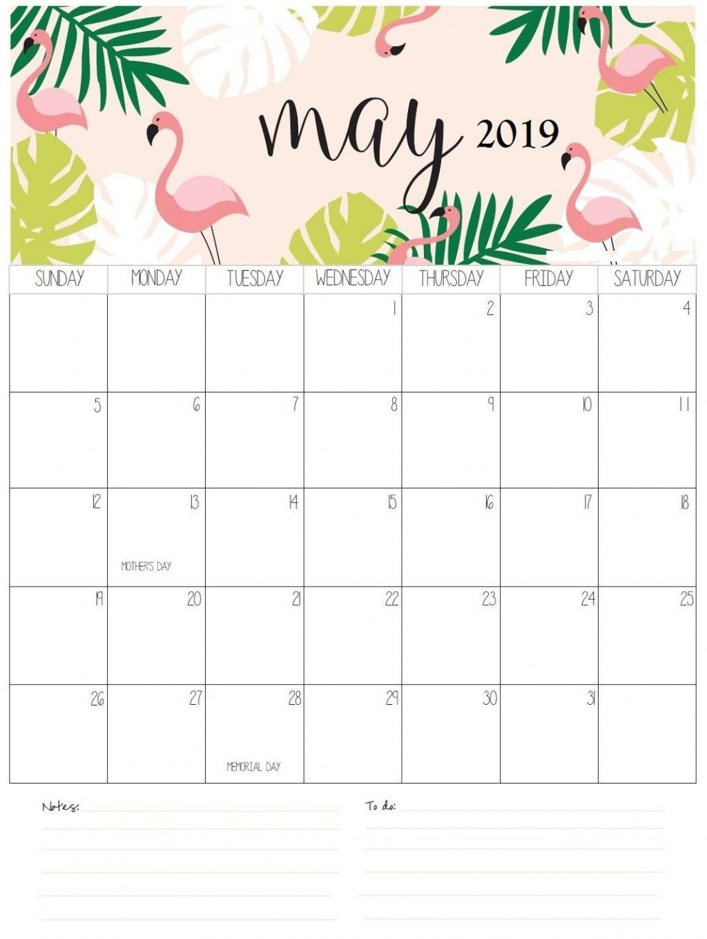 Editable May 2019 Calendar Word Template In Portrait And Landscape