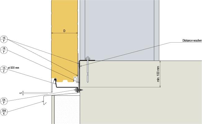 Stěnové panely KS1000 FH - Sokl stěnového panelu KS1000 FH