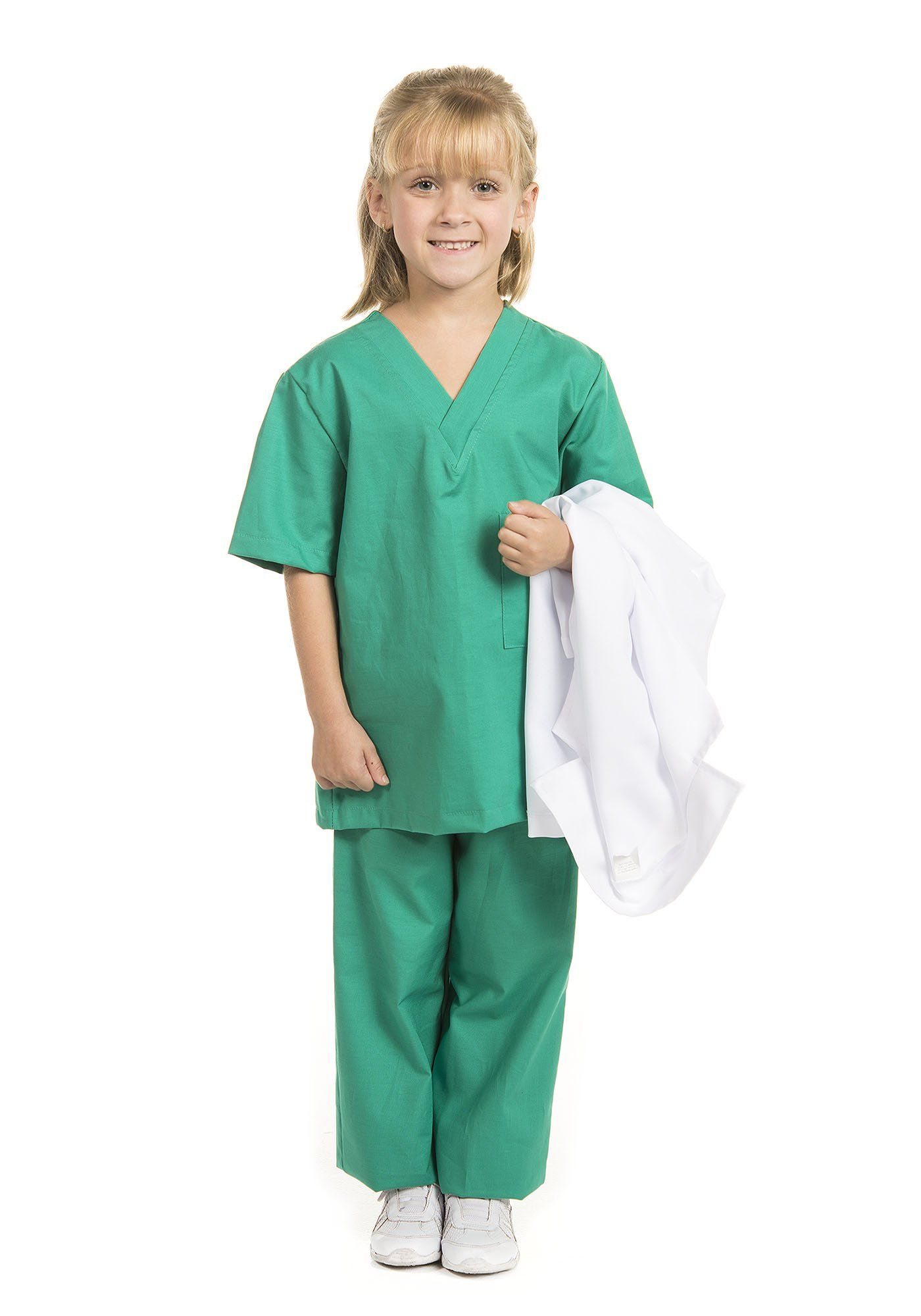 d11baab35e7 Kidcostumes Doctor Medical Scrubs with White Lab Coat Child Youth M 6X8  Child >>> Make certain to have a look at this amazing item.