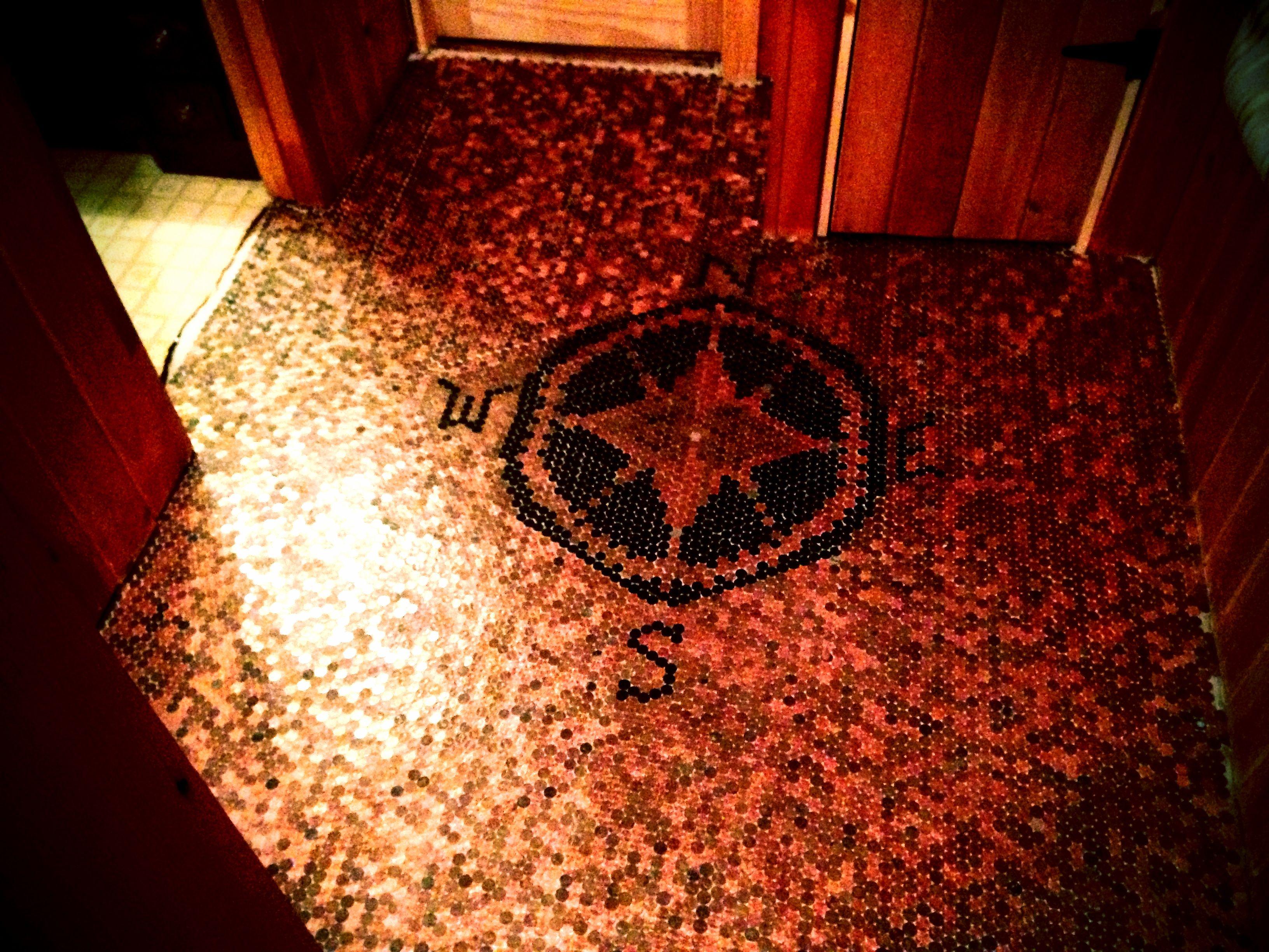 Penny floor | Diy | Pinterest | Penny tile, House and Flooring ideas
