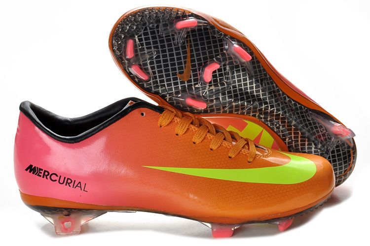 Sale Discount Nike Mercurial Victory IV FG Pink Yellow Green Football Boots  On Sale