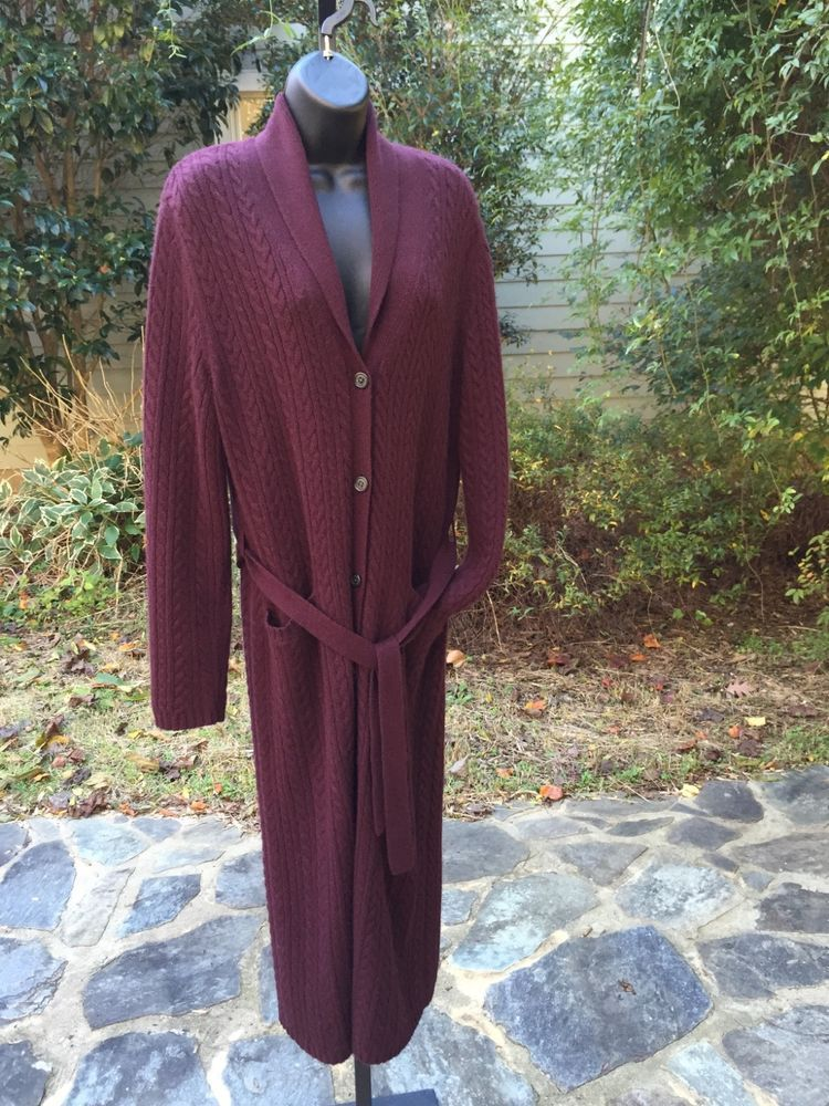 Lauren Ralph Lauren Long Cardigan Sweater or Duster. Size Large ...