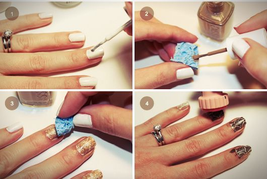 Diy snakeskin manicure nails pinterest simple diy and manicure manicure diy snakeskin manicure solutioingenieria Gallery