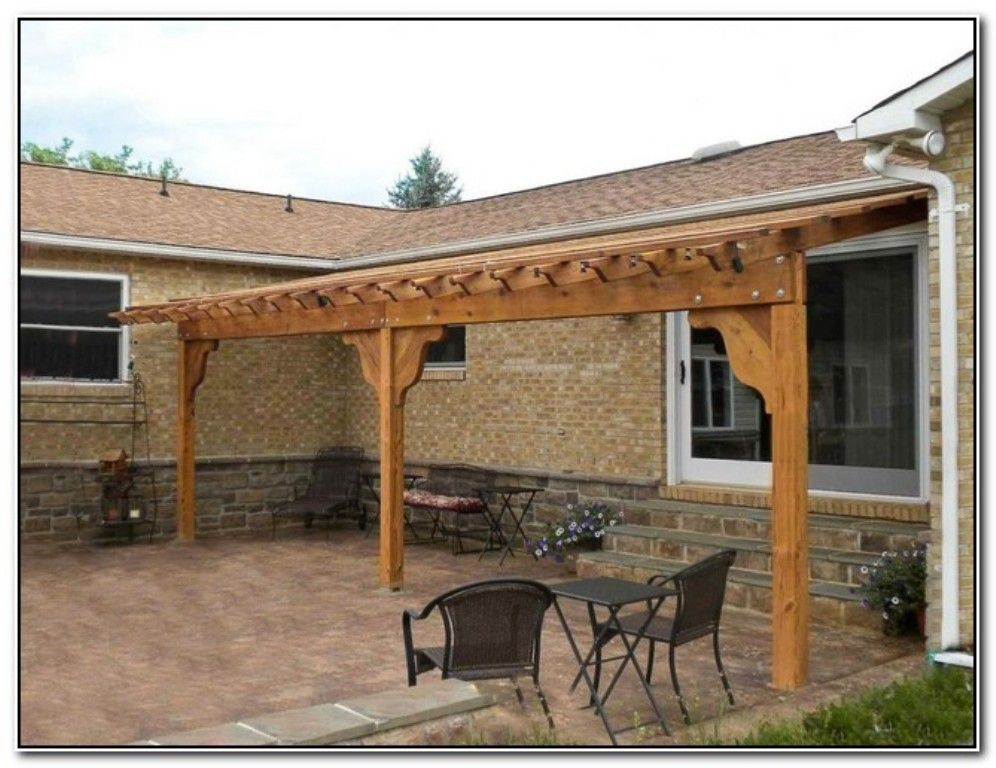 DIY Pergola Attached to House — Patio Design and Ideas - DIY Pergola Attached To House — Patio Design And Ideas For The