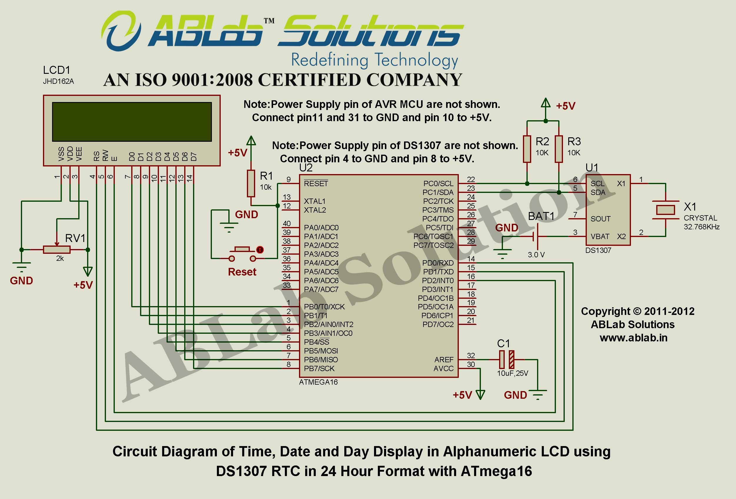 Time,-Date-and-Day-Display-in-Alphanumeric-LCD-using-DS1307