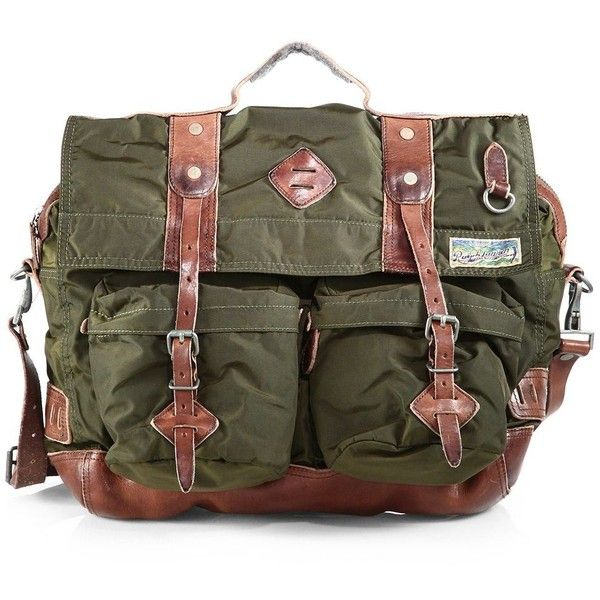 Polo Ralph Lauren Yosemite Messenger ( 298) ❤ liked on Polyvore featuring  bags 191a6aa2bd74a