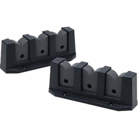 Seachoice Rod Storage Holders, 3 Rod (Sold As Pair), Black