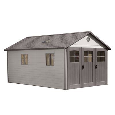 Lifetime 11 Ft W X 21ft D Plastic Storage Shed Outdoor Storage Sheds Plastic Storage Sheds Outdoor Sheds