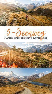 Ruta de 5 mares Zermatt – Senderismo en el Matterhorn im Wallis